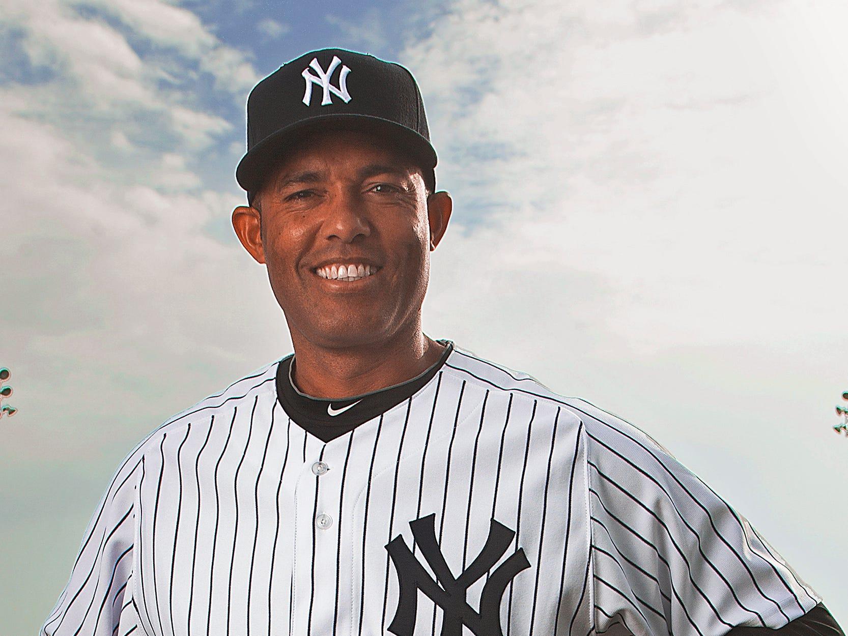 NY Yankees Spring Training 2012 -- Portraits of the NY Yankees taken at Photo Day.  Mariano Rivera.