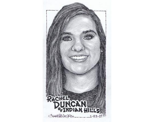 Rachel Duncan, Indian Hills bowling