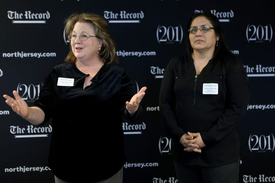 Diane Silbernagel and Nancy Barrantes, of Visiting Homemaker Service of Passaic County, accept a $5,000 Gannett Foundation grant. Tuesday, January 22, 2019