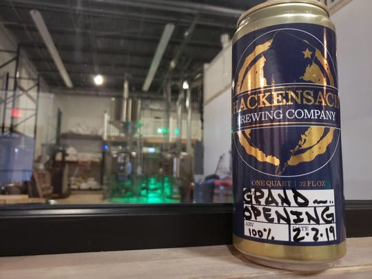 A 32-oz can of Hackensack Brewing Company's Fairmount ale, named after the Hackensack neighborhood.