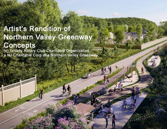 A rendering for a possible design for the Northern Valley Greenway.