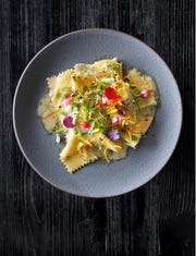 One of the pasta dishes of Viaggio's four-course best dishes menu