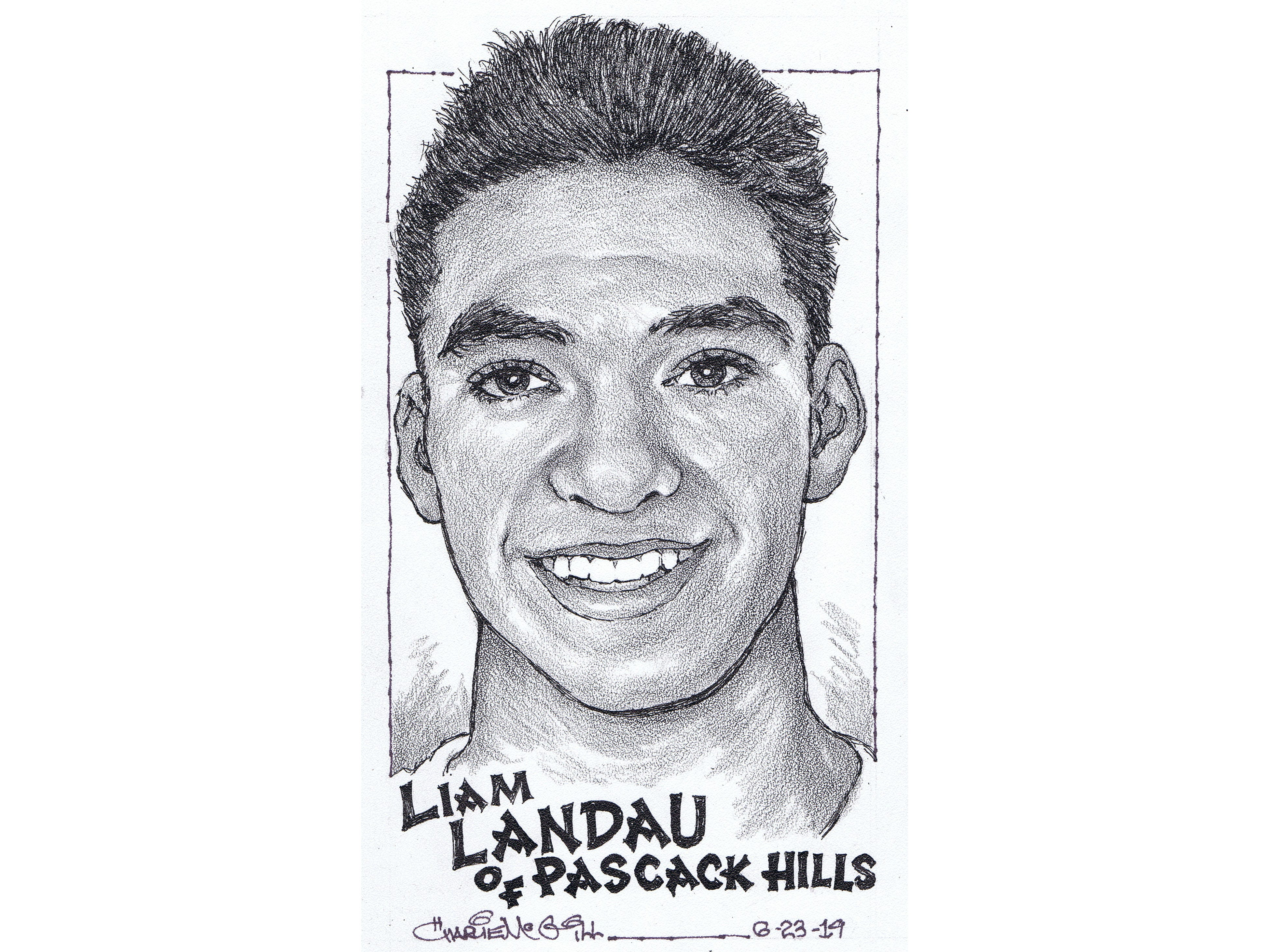 Liam Landau, Pascack Hills track and field