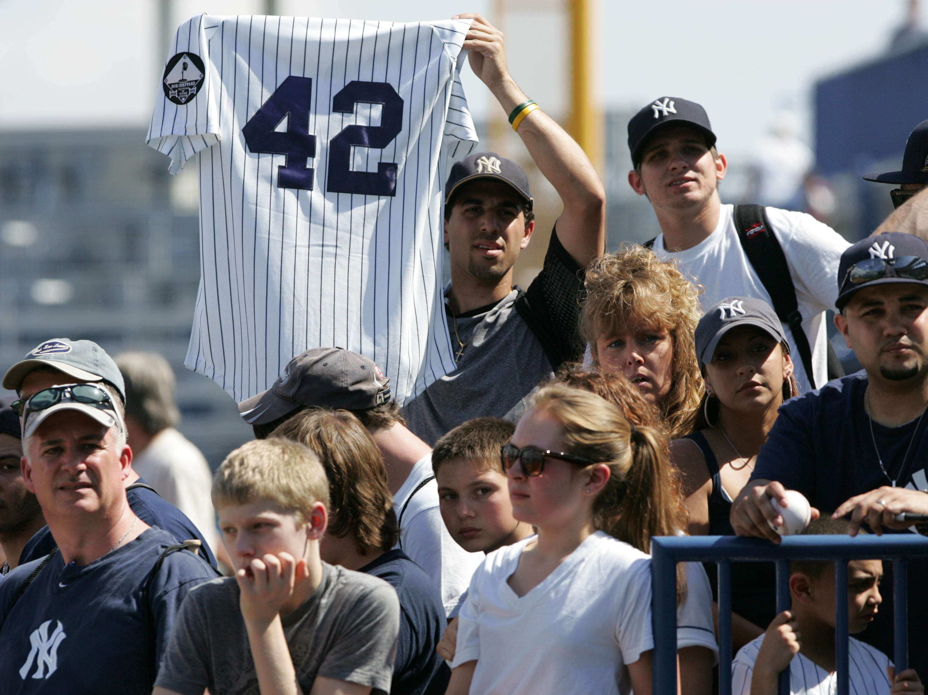 Yankees fans show their love for Mariano Rivera at spring training in 2011.