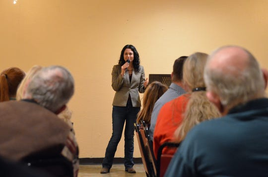 Congresswoman Xochitl Torres Small, D-NM, visited Deming on Sunday to establish connections with her constituents.