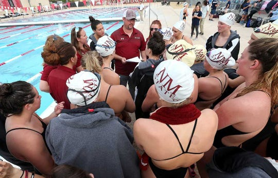 The NM State Swimming and Diving team.