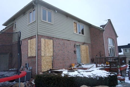 With many of its windows covered now in particle board, this home in the 16000 block of Forest Drive in Northville Township sustained significant damage in a recent fire.
