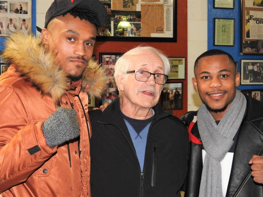 Dynamic Boxing Club trainer Paul Soucy (middle) will be in the corner for O'Quinn brothers, Robert (left) and Ja'Rico (right) for their upcoming cards.
