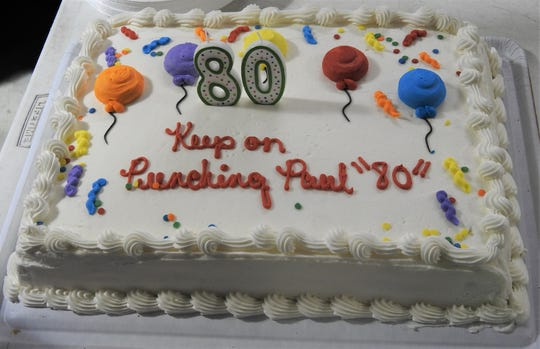 Dynamic Boxing Club trainer Paul Soucy, who recently celebrated his 80th birtday, still packs a punch.