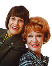 """Kaye Ballard (left) starred with Eve Arden in the late 1960s sit-com, """"The Mothers-In-Law."""""""