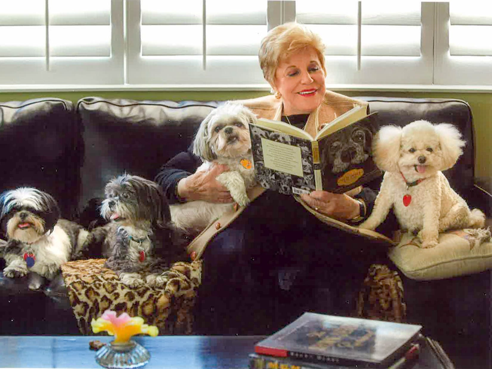 Kaye Ballard often read to her many beloved dogs at her home on Kaye Ballard Lane in Rancho Mirage.