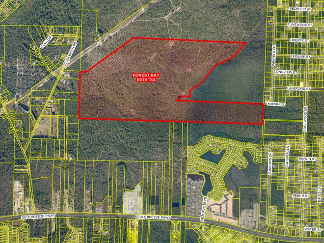 Forest Bay Estates is a 284-lot subdivision proposed in Midway, about a half mile to the east of River Birch Road.