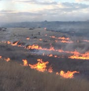 Brush fire in Prescott Valley on January 21, 2019