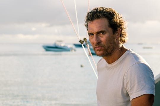 "In ""Serenity,"" Dill (Matthew McConaughey) finds himself being drawn into a deadly triangle."