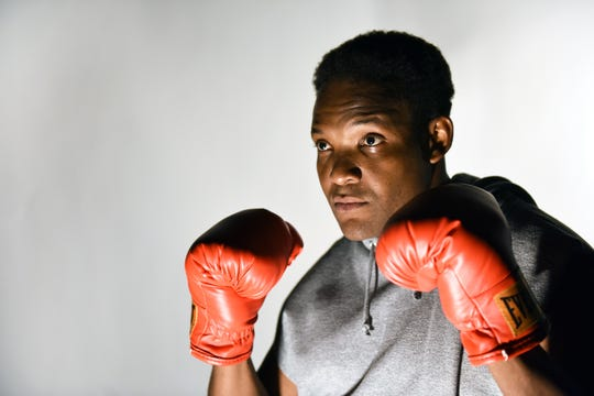 "Rapheal Hamilton stars in Black Theatre Troupe and Childsplay's co-production of ""In This Corner: Cassius Clay."""