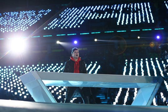 Martin Garrix performs during the Closing Ceremony of the PyeongChang 2018 Winter Olympic Games on Feb. 25 in South Korea.