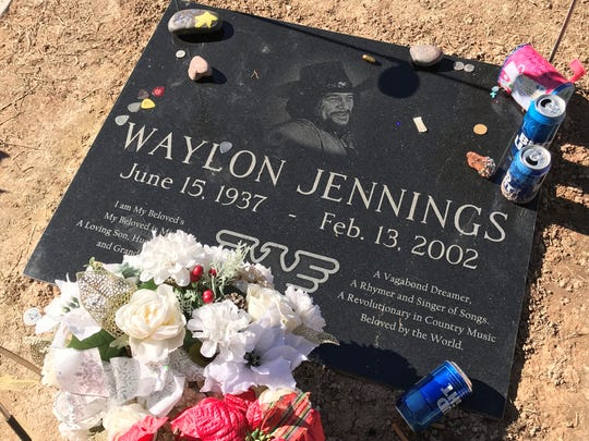 Waylon Jennings is buried in Mesa after living his final years in Arizona.