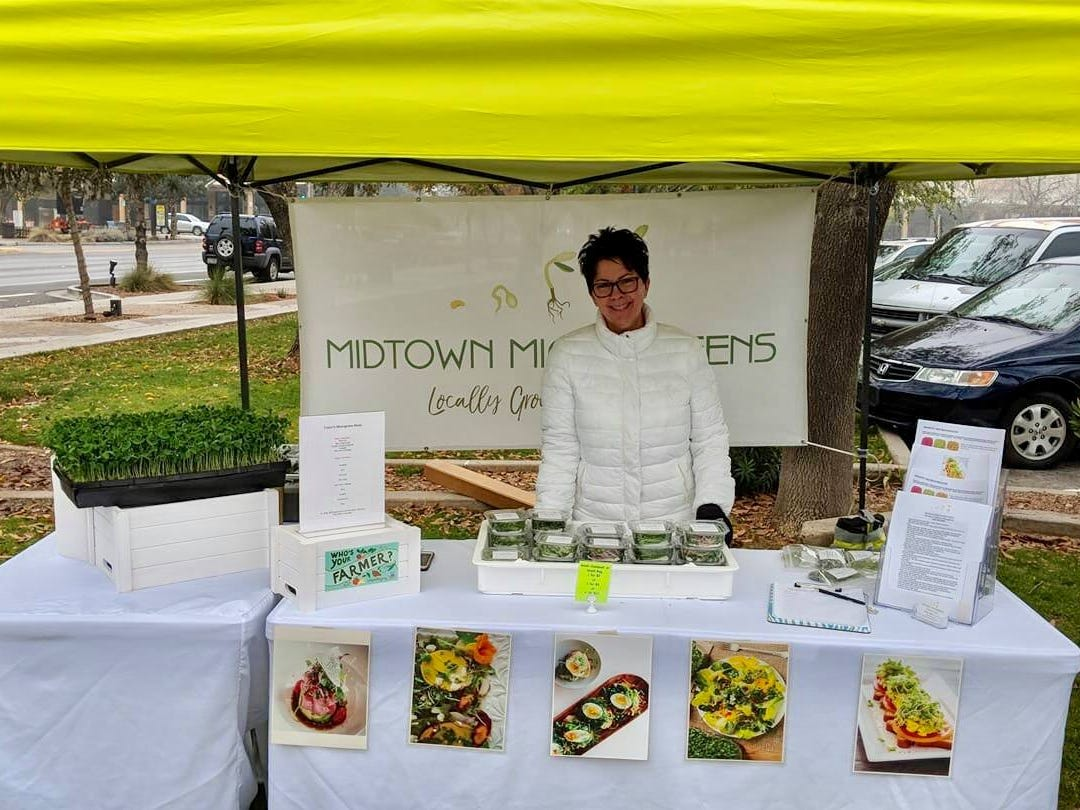 Diane Sabino, owner of Midtown Microgreens.