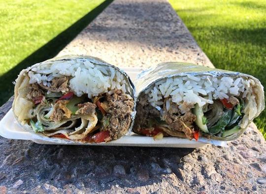 Pho King Kitchen & Food Truck's Banh Mi burrito.