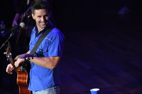 Jake Owen performs at the 14th Annual Stars For Second Harvest Benefit at Ryman Auditorium on June 5, 2018 in Nashville.