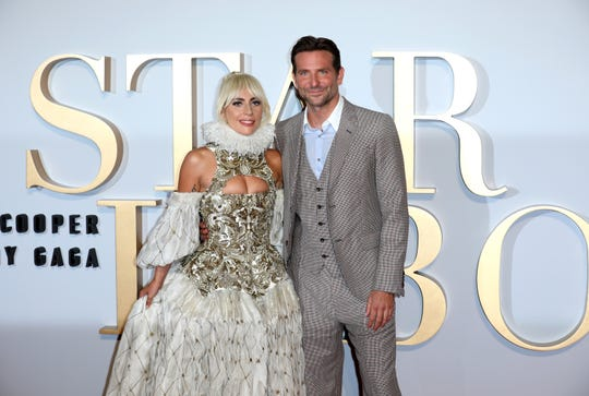 Lady Gaga and Bradley Cooper.