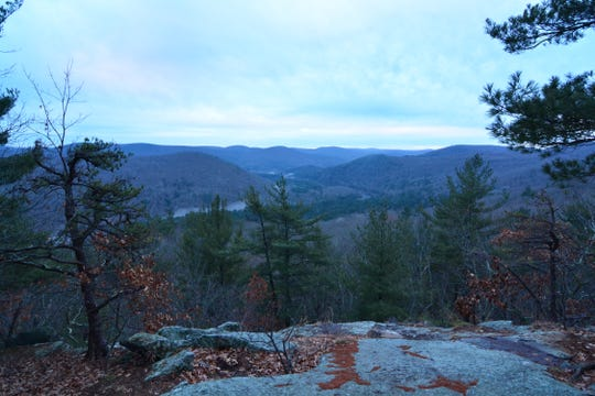 The second view from the top of Pine Knob Loop Trail in Sharon, Conn. is worth the effort, but best to make the hike in warmer weather.