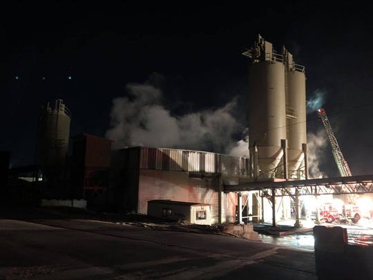 Crews responded to a fire in two buildings at a quarry in the 900 block of North Hartley Street Tuesday, Jan. 22. Photo courtesy of York City Fire Department.