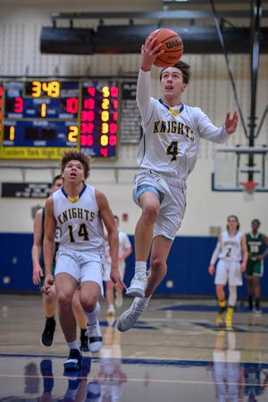 Trevor Seitz, seen here in a file photo, scored 19 points in Eastern York's win over Solanco on Wednesday night.