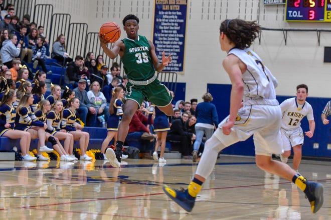 York Tech vs Eastern York boys' basketball, Monday, January 21, 2019.John A. Pavoncello photo