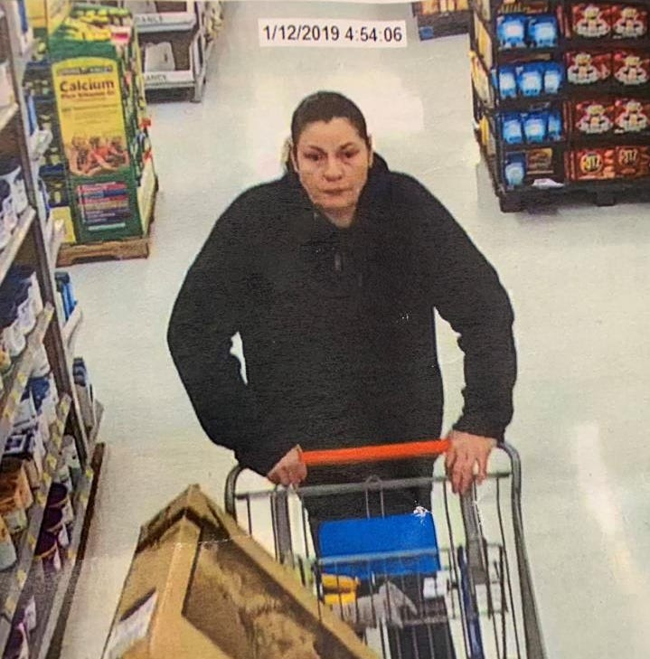 Police seek to identify woman with widow's peak who's wanted in Walmart theft