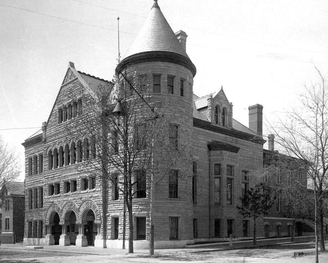 1900s exterior of the refitted Morrisson-Reeves Library Reeves Library.
