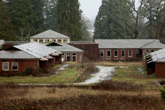 Run-down buildings on the site of the former Fairview Training Center site in Salem on Sunday, Jan. 20, 2019.