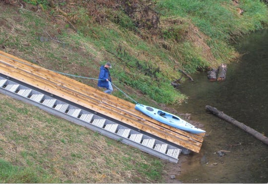 This boat slide and steps was recently added to the Siletz River at Ojalla Site in Lincoln County.