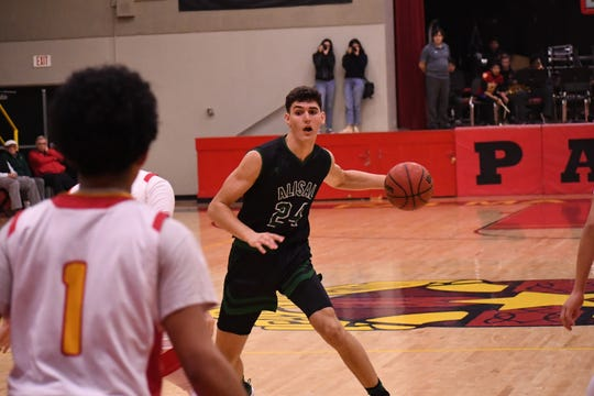 Alisal forward Sebastian Reynoso (24) was the sole First Team all-Gabilan selection for the Trojans this past winter.