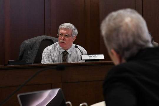 Stan Mills, Rehoboth Beach Commissioner, discusses the town's budget at a meeting on Friday, Jan. 18, 2019.