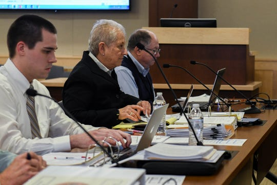 Sharon Lynn, Rehoboth Beach City Manager, presents the new budget to the board of commissioners at a meeting on Friday, Jan. 18, 2019.