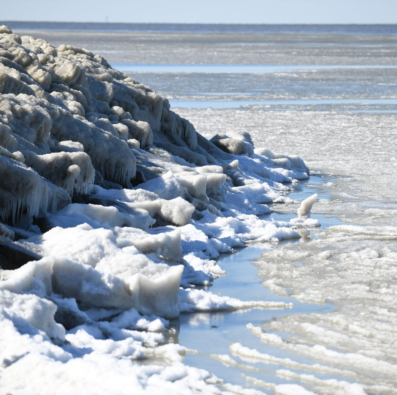 Rapid freeze brings stunning, unique ice formations to Crisfield
