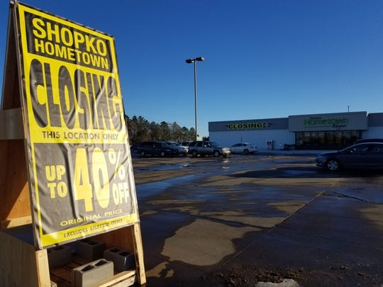 Merchandise at the Shopko store in Wagner is being liquidated in advance of a planned closure of the store in February. Wagner and other small towns that are losing Shopko are concerned about the economic fallout.