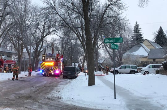 Firefighters responded to a garbage can fire at 1408 S. Carter Pl. on Tuesday, Jan. 22, 2019. The fire damage was minimal.