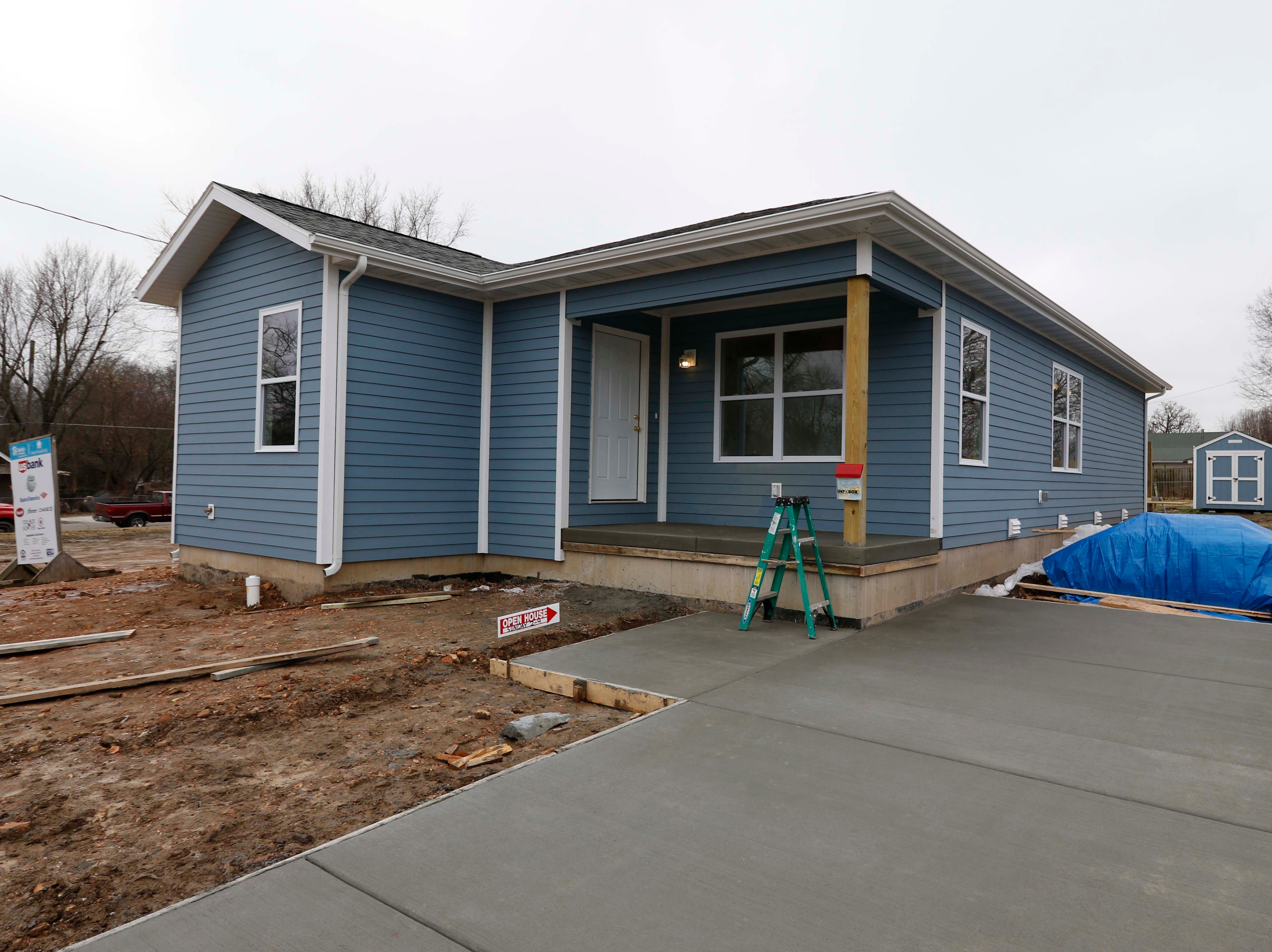 Images from the new Habitat for Humanity house on North Main in Springfield on Jan. 18, 2019.