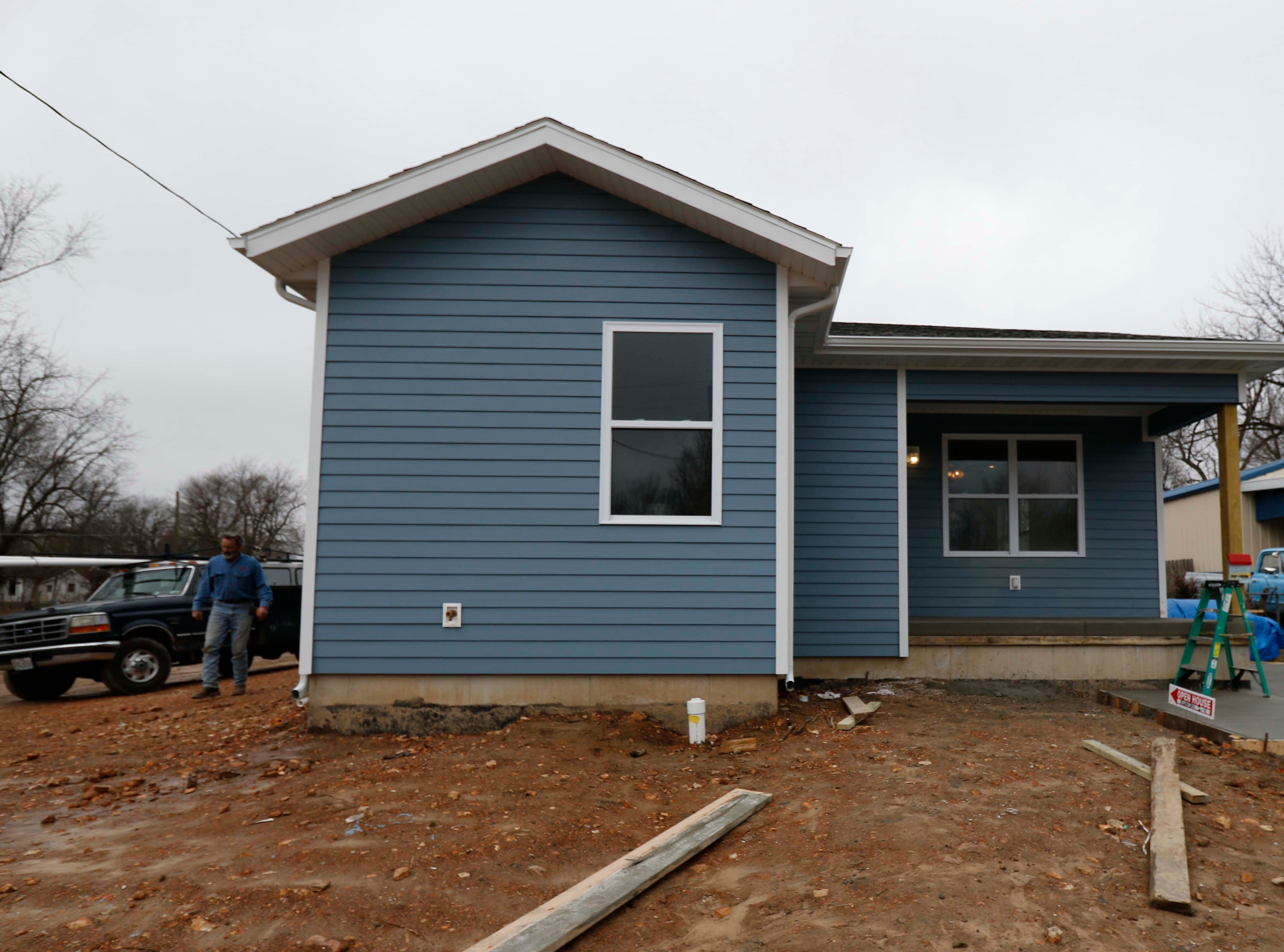 Images from the new Habitat for Humanity house on North Main in Springfield on Jan. 18, 2019..
