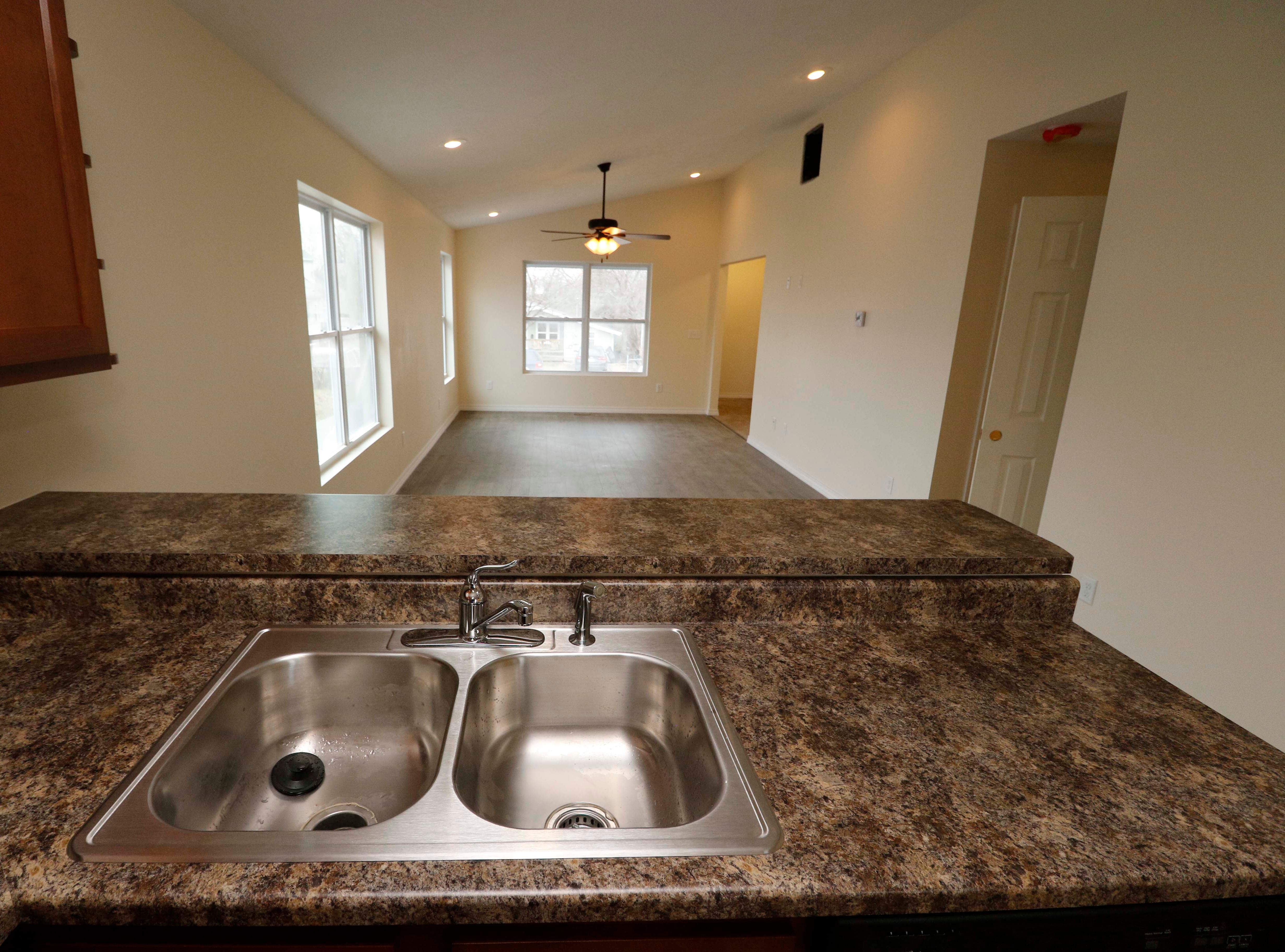 The kitchen from the new Habitat for Humanity house on North Main in Springfield on January 18, 2019.