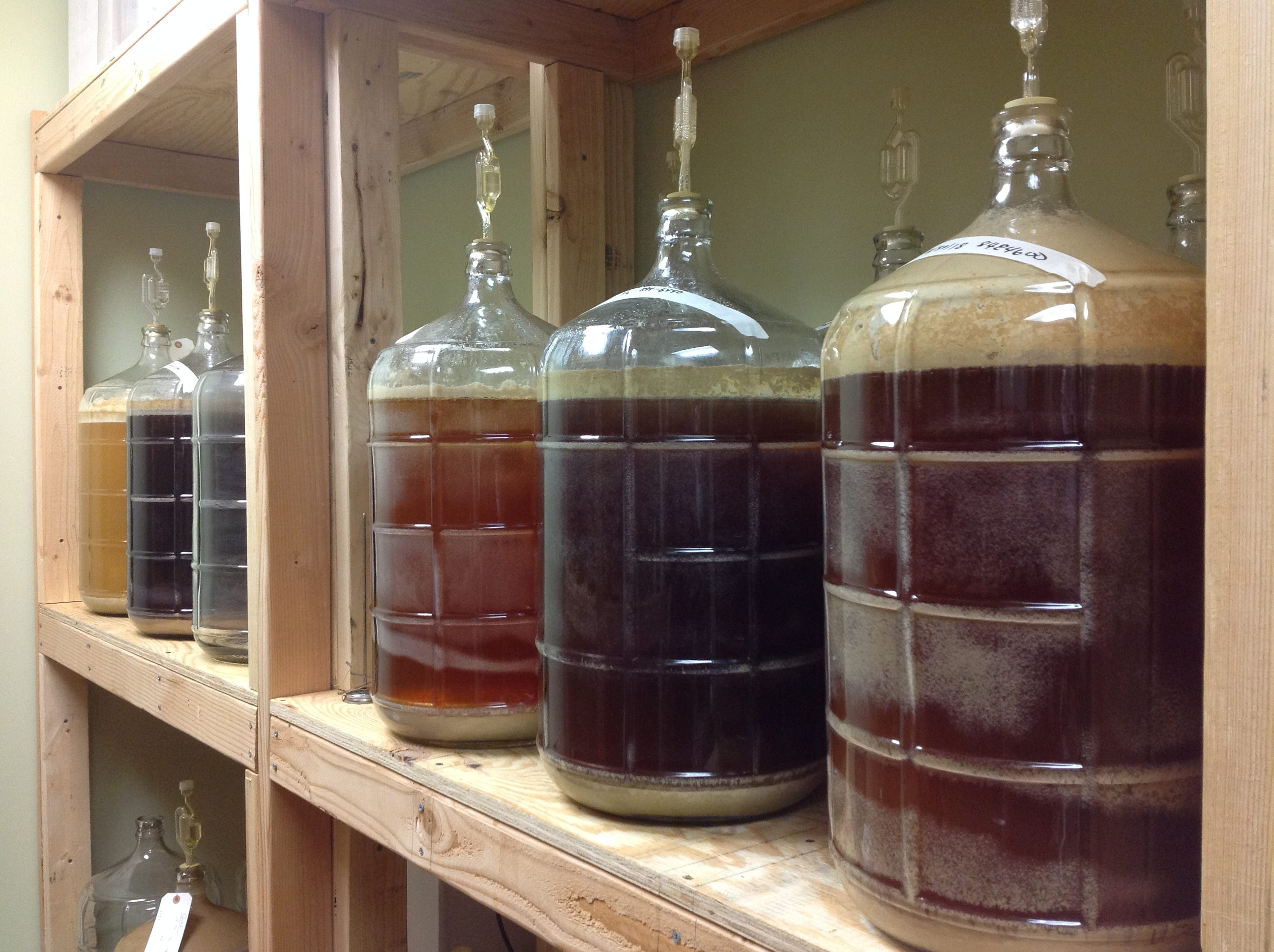 After your beer is brewed, fermentation works its magic as the beer is stored at Show Me Brewing until ready to bottle and drink.