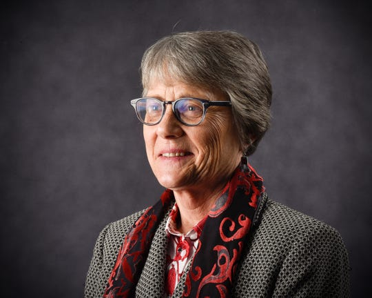 President Robbyn Wacker, St. Cloud State University, is shown Monday, Jan. 21, at the River's Edge Convention Center.