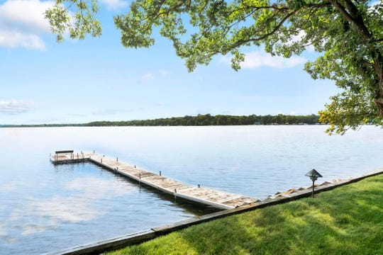 The home enjoys a spectacular view of Lake Le Homme Dieu.