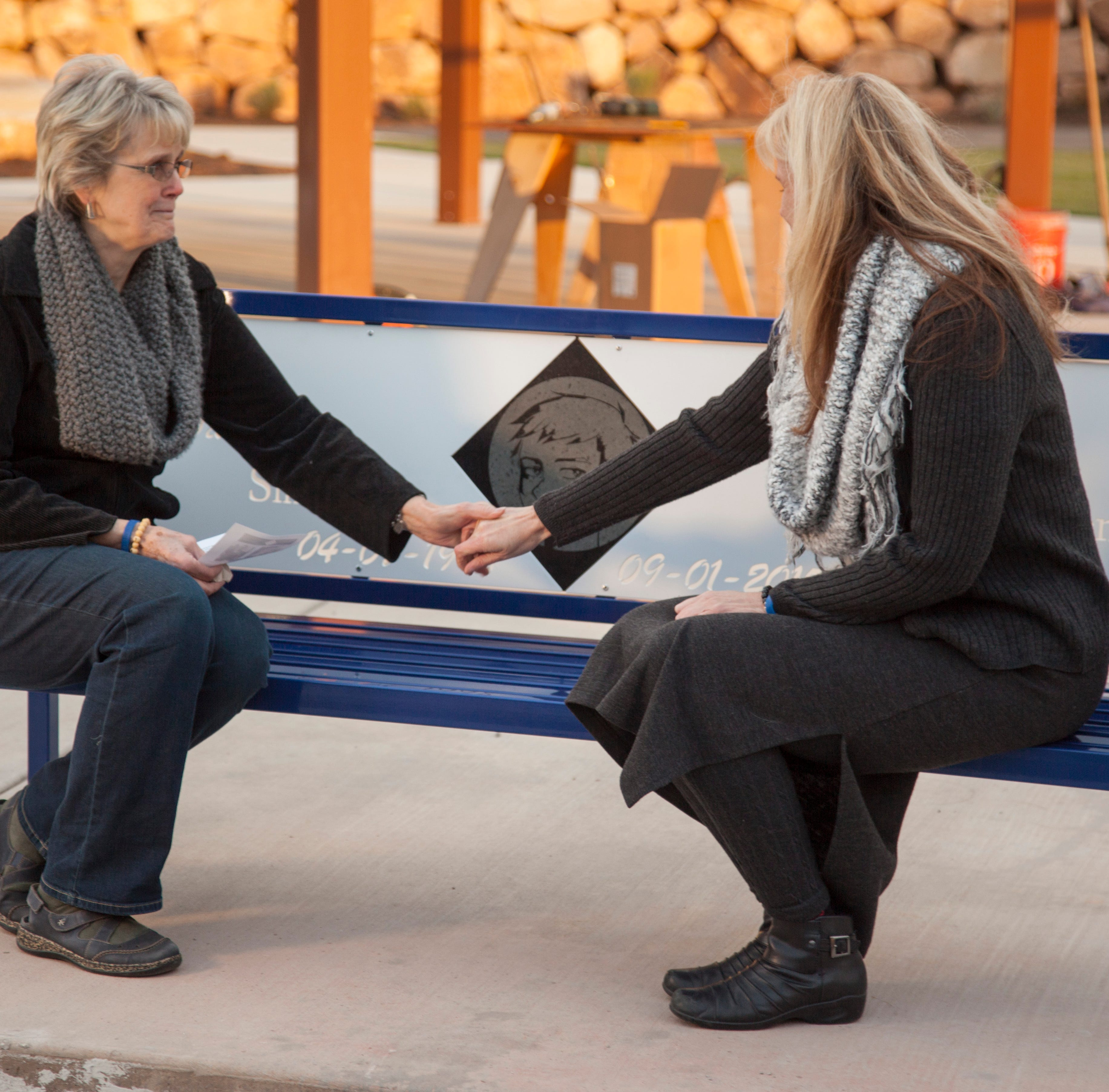 Missing, not forgotten: Park bench dedicated in Macin Smith's name