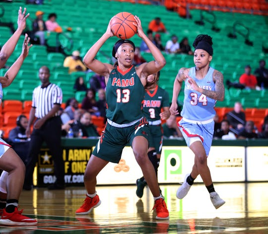 FAMU junior forward Dy'Manee Royal recorded a double-double with 12 points and 10 boards versus Delaware State.