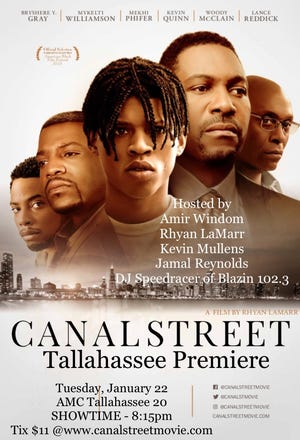 """Florida A&M University graduate Amir Windom returns to Tallahassee Tuesday night for a screening of the film """"Canal Street"""" at Tallahassee AMC-20"""