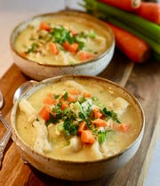 Carrots and celery add crunch and flavor, not to mention a few vitamins and minerals, to Chicken and Dumplings.