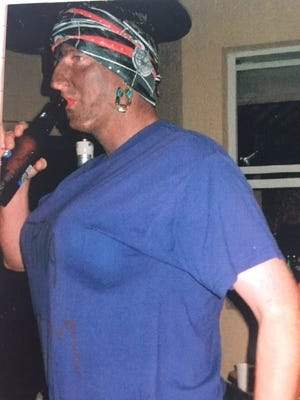Florida Secretary of State Mike Ertel, then Seminole County Supervisor of Elections, wearing blackface at Halloween party in 2005.